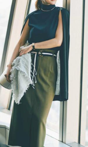 「軸」に合う服が揃えば、少ない服でおしゃれに着回せる例