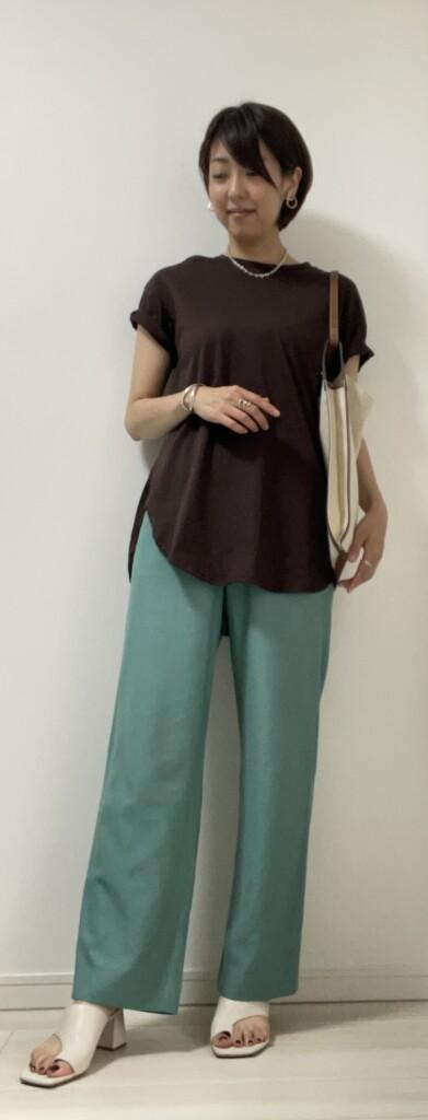 30代、40代の大人のTシャツコーデ~カジュアルバージョン半袖